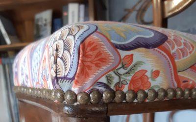 Habillage de chaises Louis Philippe